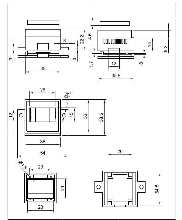 Oled display dimension sheet